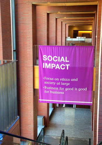 Resized portrait - social impact banner in huntsman hall (1)