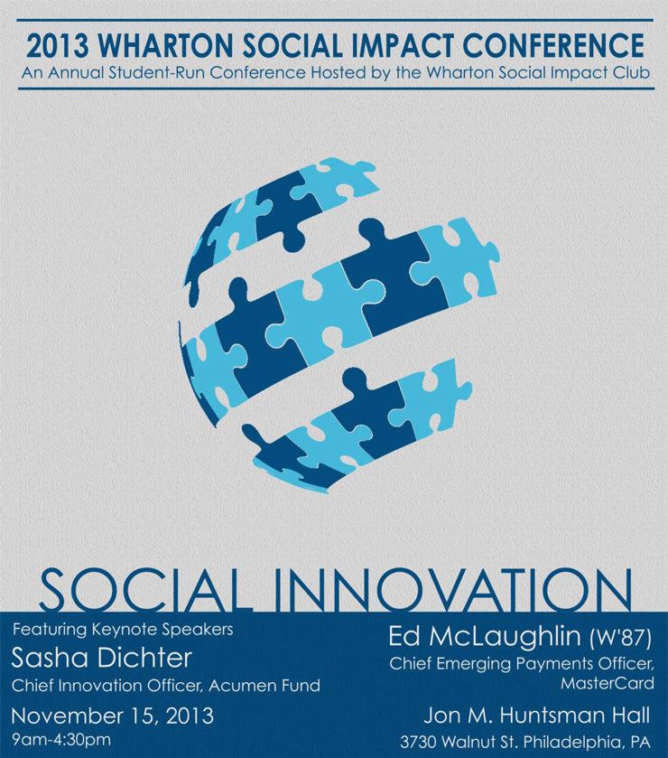 2013 Wharton Social Impact Conference