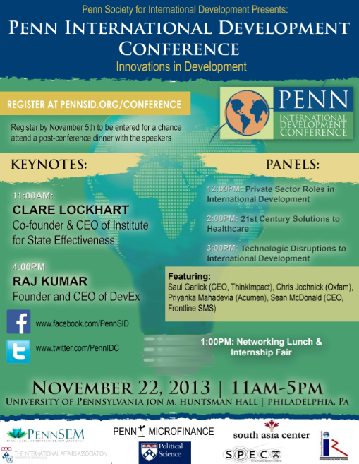 Penn International Development Conference