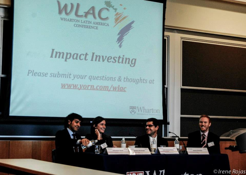 Panelists at the impact investing session of the 2013 Wharton Latin America Conference.