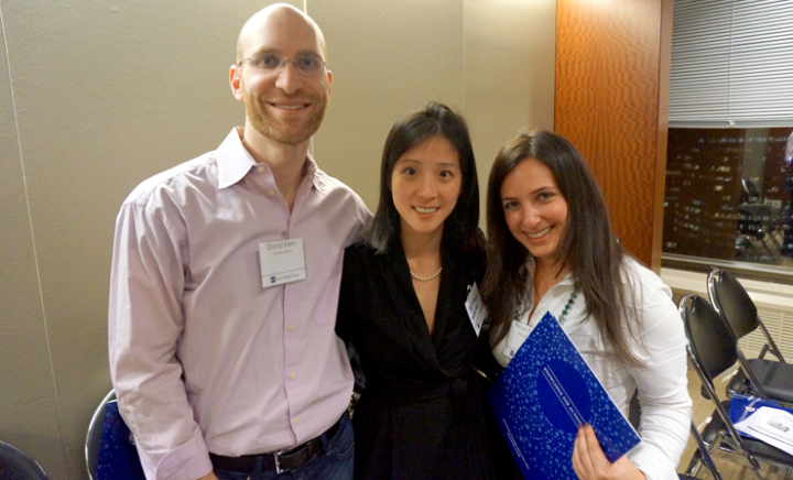David Klein with members of the Wharton Social Venture Fund, spring 2014.