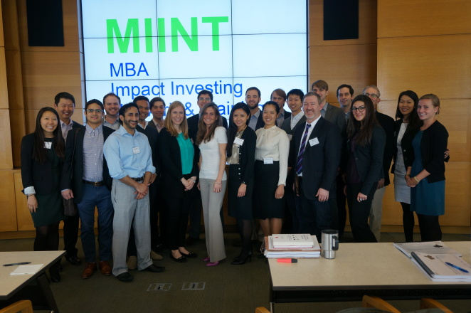 The Wharton Social Venture Fund competed in the MIINT competition finals, pictured here in 2014.