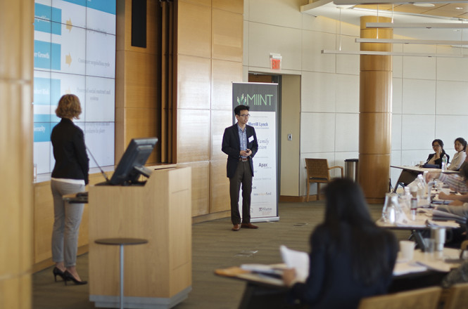 Students teams pitching at the 2015 MIINT Finals on April 18, 2015.