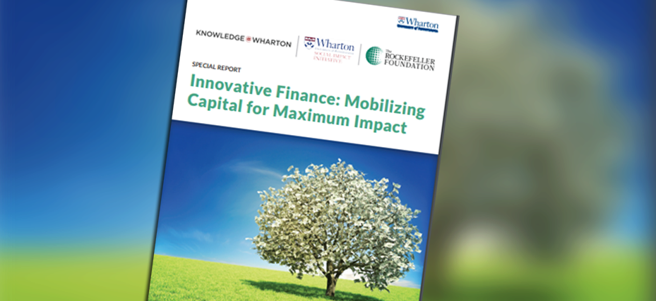 Innovative Finance report header