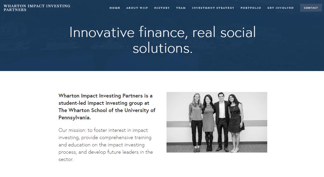 WIIP website screenshot