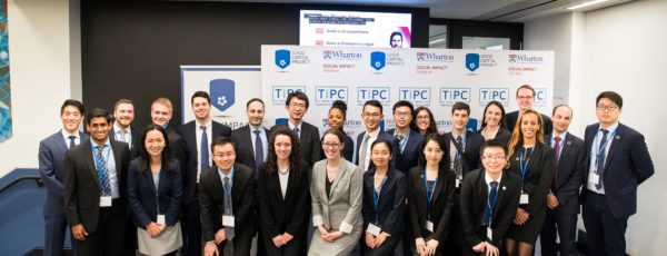 over 20 students posing at the TIPC finals in 2019