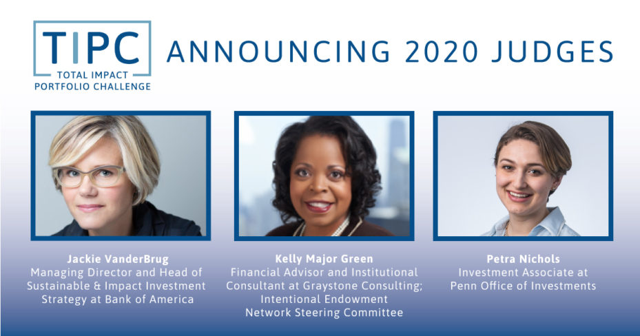 judges for the 2020 total impact portfolio competition conference