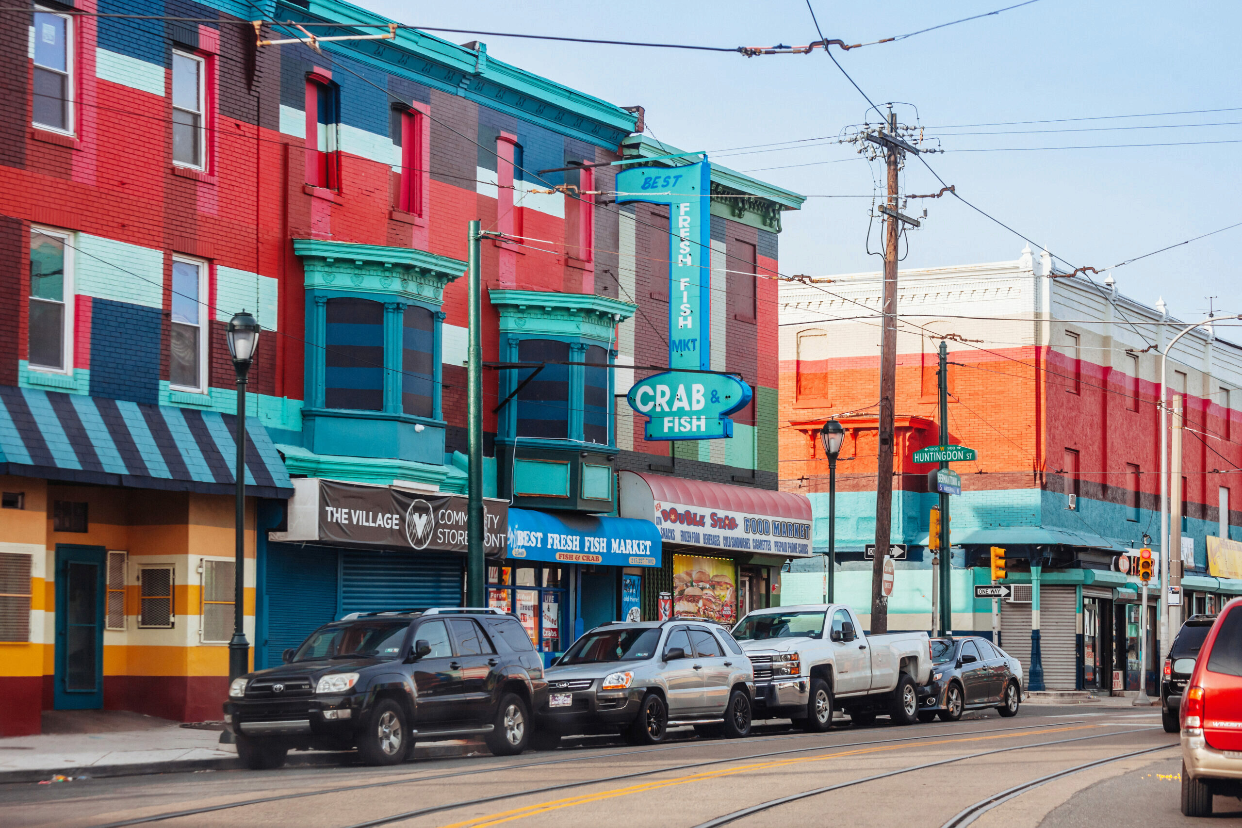 colorful storefronts in the Philadelphia community